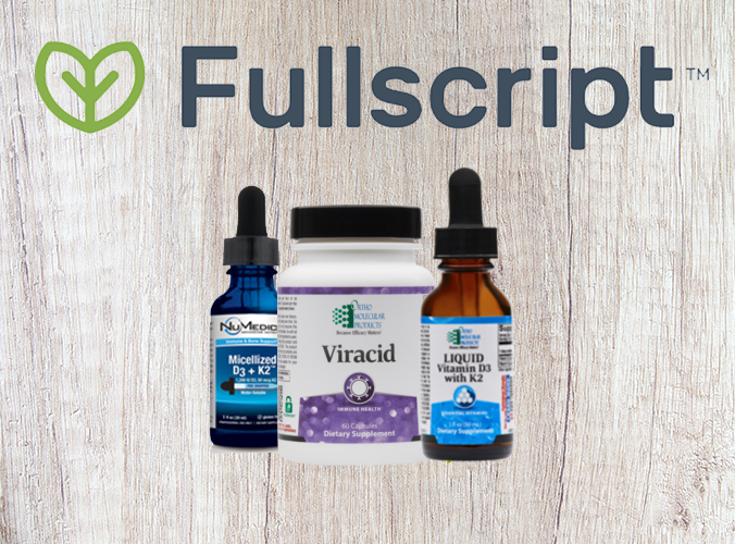 Fullscript supplements 3 pack with two droppers and one bottle.